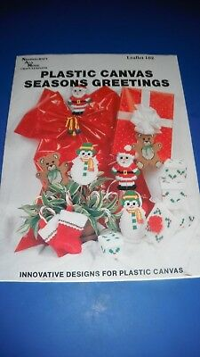 Needlecraft Ala Mode Craft Leaflet 102 Plastic Canvas Seasons Greetings