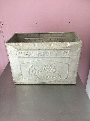 VINTAGE ALUMINIUM WALLS Ice Cream Kitchen Storage Container Box