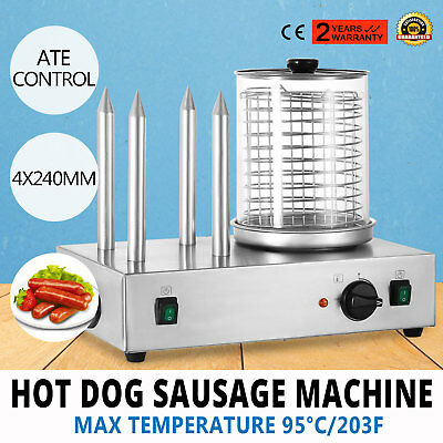 Roll Grill Hot Dog Steamer Sausage Machine Bar Shop Stainless Catering PRO