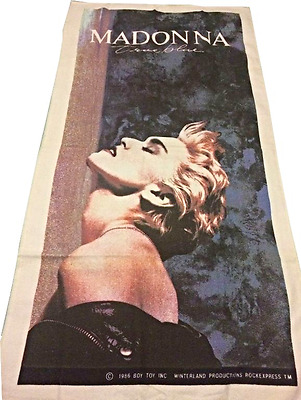 Madonna - Official Usa Boy Toy 1986 True Blue Large Beach Towel Unused