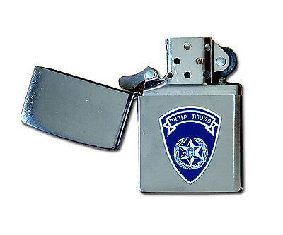 ZIPPO Lighter 200 ISRAELI POLICE National Brushed Chrome security General Symbol