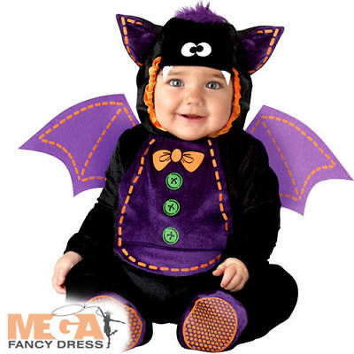 Baby Bat 0-24 Months Fancy Dress Animal Halloween Boys Infant Childs Costume New