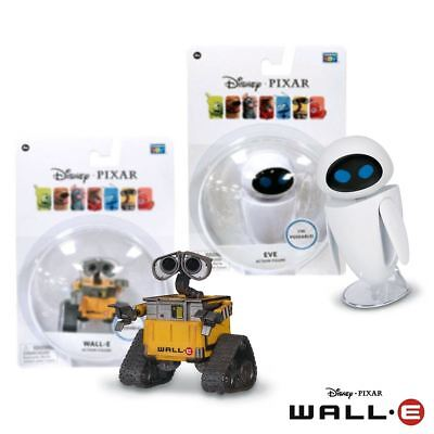"New Pixar WALL-E Or Eve 3"" Poseable Action Figure Disney Official"