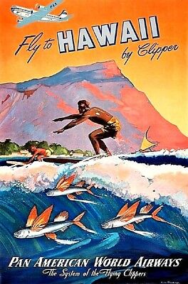 Very cool 1950s Travel poster created for Pan Am