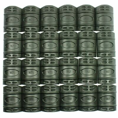 24 Pieces Universal 20mm Weaver Picatinny Rubber Rail Covers Hand Guard - Black