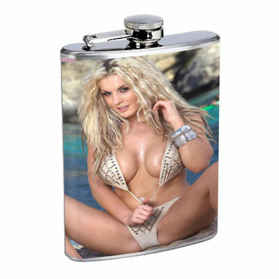 Moroccan Pin Up Girls D19 Flask 8oz Stainless Steel Hip Drinking Whiskey