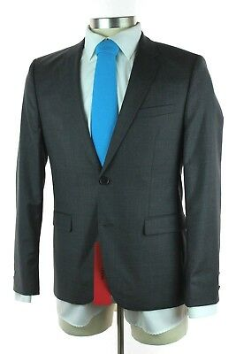 3249fb281 NWT HUGO BOSS RED LABEL Astian Hets Grey Wool 2Btn Flat Front Suit 50 40 40S
