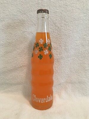 FULL 10oz CLOVERDALE ORANGE ACL SODA BOTTLE CLOVERS