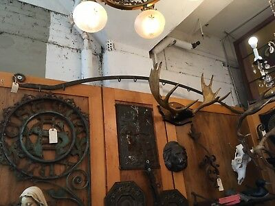Rare Antique 8ft Wrought Iron Hand Forged Butchers meat Rack 19th Century