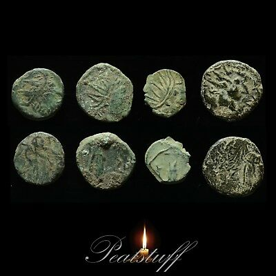 Roman Barbarous coins x 4 British found Uncleaned. Metal detecting finds. 96 SRG