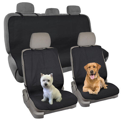 100% Waterproof Car Seat Cover for Gym Work Travel Full Set Front Rear - 3pc