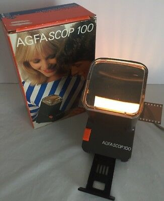 Agfascop 100 Agfa Slide Viewer Made in Germany Agfa-Gevaert - Tested and Working