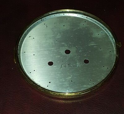 """Vintage 5 9/16""""  Seth Thomas Round Replacement Clock Face Glass Steampunk Use"""