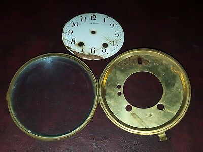 """Vintage 5 1/4""""  Seth Thomas Round Replacement Clock Face Glass Steampunk Use"""