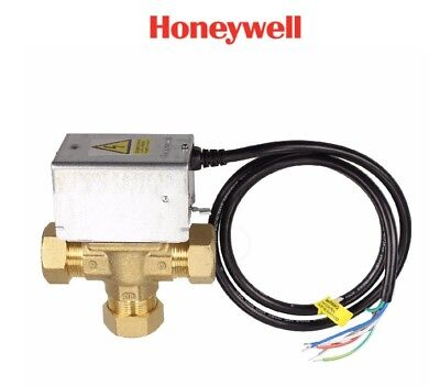 Honeywell Central Heating Mid Position 3 Port Valve 5 Wire 28Mm Pipe V4073A1088