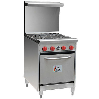 "CPG 24"" 4 Burner Gas Range"