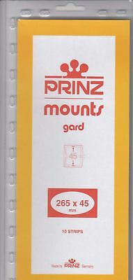 Prinz Black Stamp Mount Strips 265x45 mm For Various Canada New 10 Pack Scott