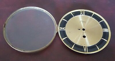 """Vintage 6""""  Artco Round Replacement Clock Face Glass Steampunk Use"""