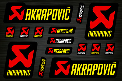 Akrapovic Decals Stickers Exhaust Graphics Set Autocollant Aufkleber Adesivi