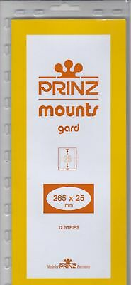 Prinz Black Stamp Mount Strips 265x25 mm For Coil Strips of 11 Pack Of 12 Scott