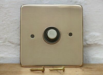 Vintage BRASS Door Bell Push (READY TO FIT)