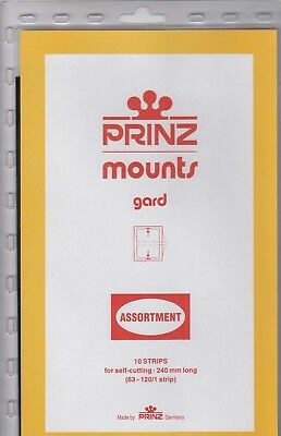 Prinz Black Stamp Mount Strip Assortment Mix Lot Of 10 Sizes 63 - 120 mm Scott
