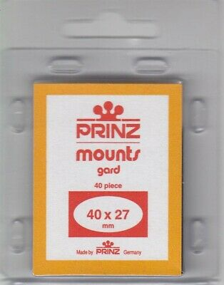 Prinz Black Stamp Small Mounts 40x27 mm For UN United Nations 40 Pcs Scott New