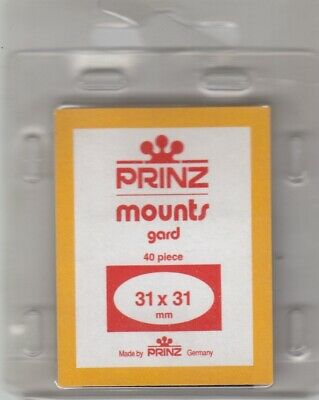 Prinz Black Stamp Mounts 31x31 mm For Celebrate the Century Pack Of 40 Scott