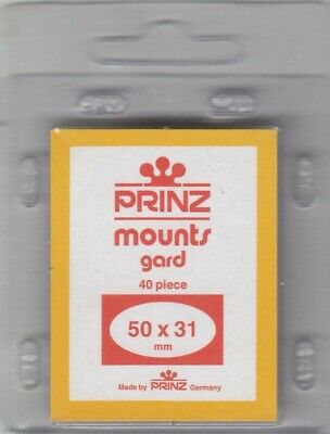 Prinz Black Small Stamp Mounts 50x31 mm For US Jumbo Horizontal 40 Pcs Scott