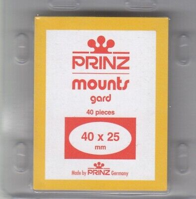Prinz New Black Stamp Mounts 40x25 mm For US Commemorative Horizontal 40 Scott