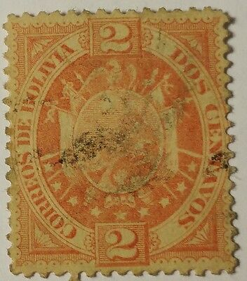Bolivia   Scott#41   Cat Value At $3.00  Used ...worldwide Stamps