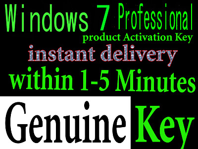 WINDOWS 7 Professional 32/64 bit Activation Key + DOWNLOAD LINK INSTANT DELIVER