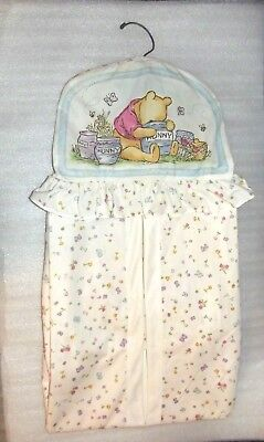 Classic Pooh White Hunny Pots Butterfly Diaper Stacker Holder Baby
