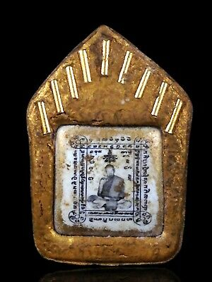 OLD Magic Powder PHRA KHUNPHAN LP Tim Wat Lahanrai Thai Buddha Amulet