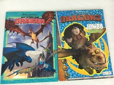 How To Train Your Dragon 2 Coloring Book Set Of NEW Unused Clean
