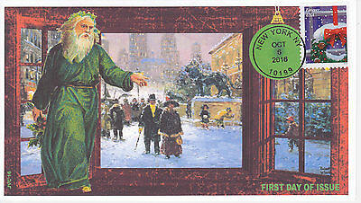 Jvc Cachets - 2016 Holiday Windows Issue First Day Cover Fdc Christmas Design #2