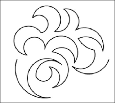 Quilting Full Line Stencil Swirl Reusable for Quilts use Pounce A3 New