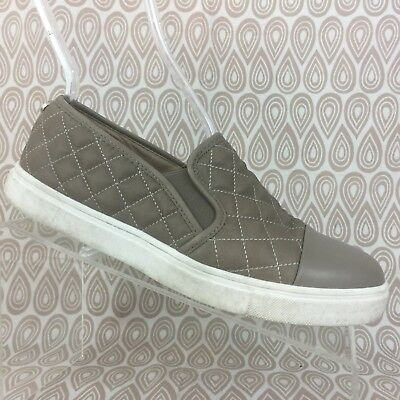 90c9752b2a3 Steve Madden Zaander Slip-On Sneaker Size 8 M Women Tan Leather Quilted S211