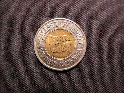 Pearl Wash Car Wash Token - Southern CA Car Wash $1 Coin - Pearl Wash Vend Coin