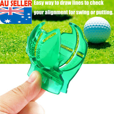 Green Golf Ball Line Clip Liner Marker Template Drawing Alignment Marks Tool EB