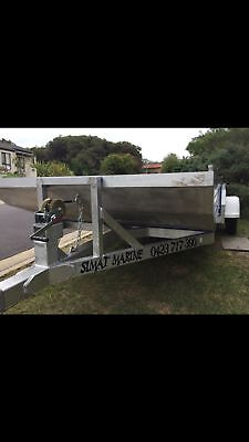 New aluminium oyster punt boat and trailer