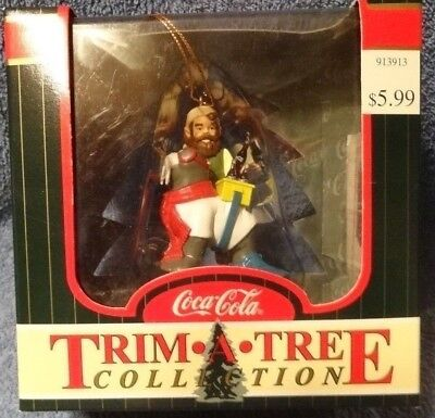 Vintage Coca-Cola Trim A Tree Collection Elf & Walrus Christmas ornament MIB