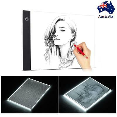 A4 USB LED Light Box Tracing Board Art Design Stencil Drawing Pattern Copy Pad