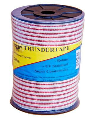 Thunderbird - 400mt Thundertape Quality Electric Fence Hot Tape Super Conductive