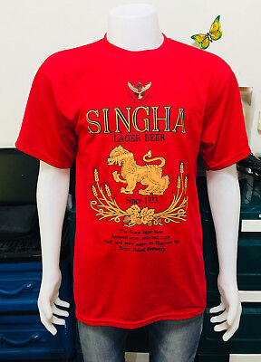 Singha Beer T-shirt Thai RED Size L