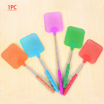 Retractable Telescopic Extendable Plastic Fly Swatter Prevent Pest Mosquito Tool