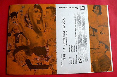Three On A Couch 1966 Jerry Lewis Janet Leigh Mary Ann Mobley Exyu Movie Program
