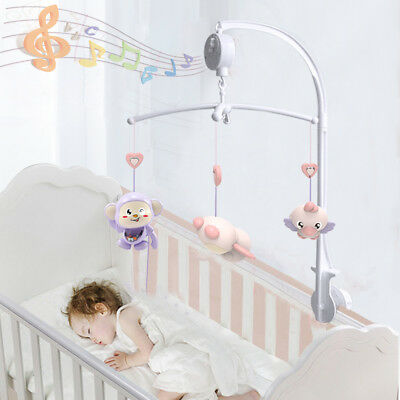 Rotary Baby Toddler Mobile Crib Bed Toy Clockwork Movement Music Box Bell Hanger