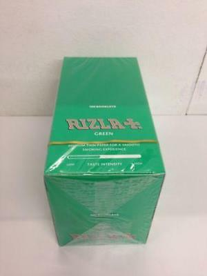 100 Booklets Rizla Green Cigarette Rolling Papers Full Box