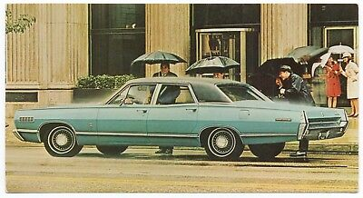 1967 Mercury BROUGHAM Four-Door SEDAN Dealer NOS Promotional Postcard UNUSED VG